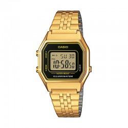 Reloj Casio Básico Digital Negro Armis Dorado Mediano LA680WEGA-1ER