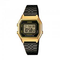 Reloj Casio Básico Digital Armis Negro Caja Dorada Mediano LA680WEGB-1AEF