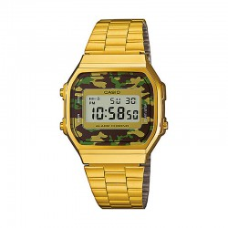 Reloj Casio Collection Digital Armis Dorado Camu Grande A168WEGC-3EF
