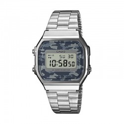 Reloj Casio Collection Digital Armis Acero Camu Gris A168WEC-1EF