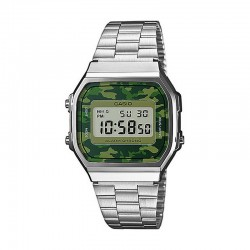 Reloj Casio Collection Digital Armis Acero Camu Verde A168WEC-3EF