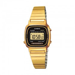 Reloj Casio Collection Digital Negro Armis Dorado Pequeño LA670WEGA-1EF