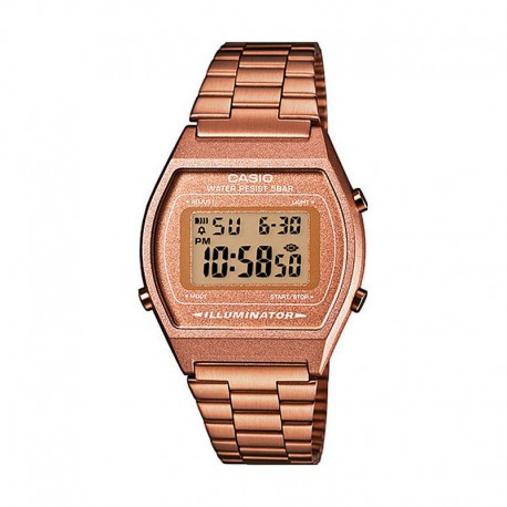 0cf37902a9d5 Reloj Casio Collection Digital Armis Oro Rosa B640WC-5AEF. Rebajado.