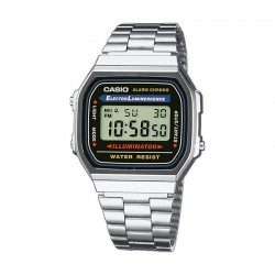 Reloj Casio Collection Digital Armis Acero Negro A168WA-1YES