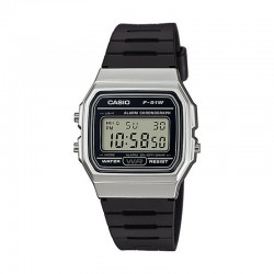 Reloj Casio Collection Digital Negro Resina Negra F-91WM-7AEF